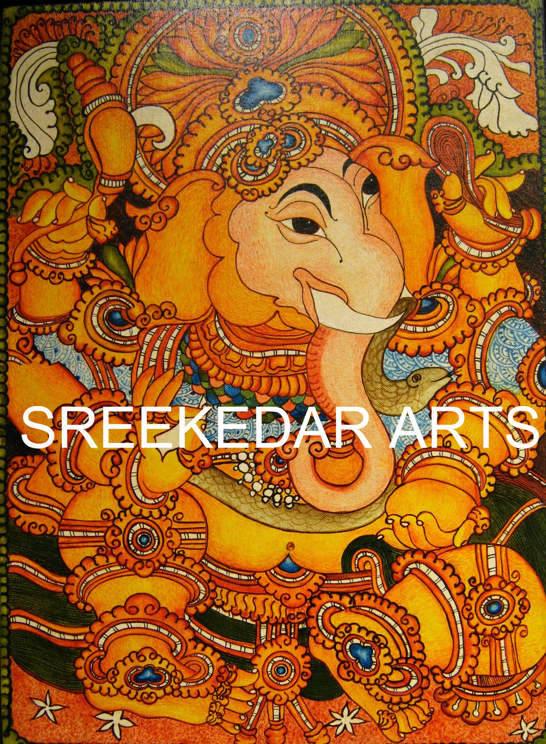 Sreekedararts for Mural art of ganesha